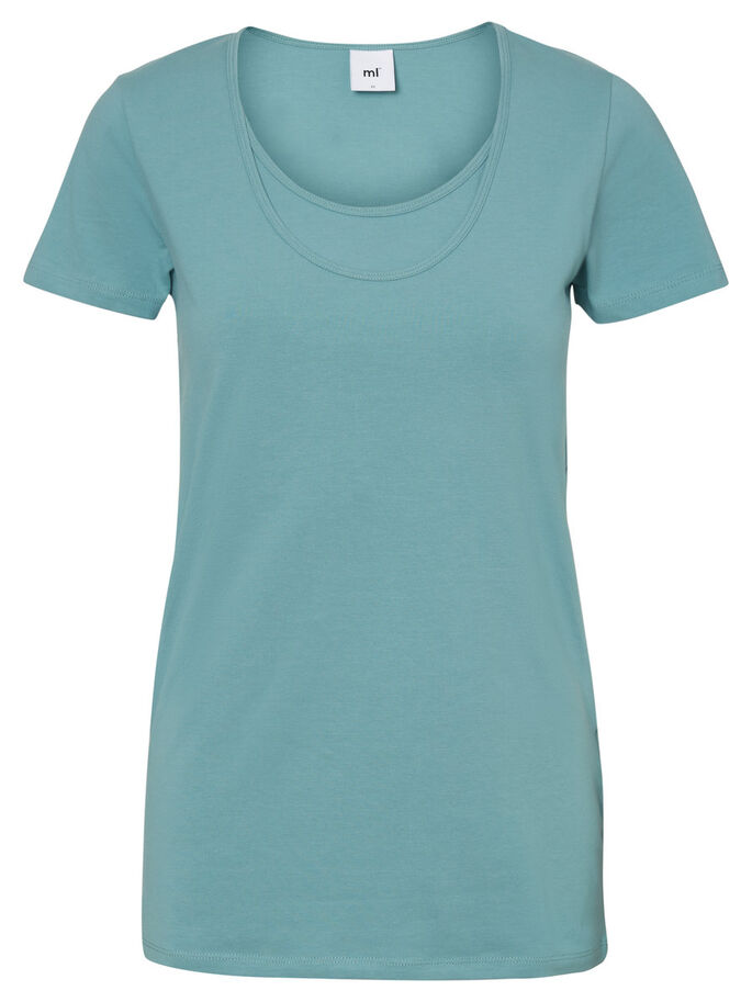 MIX NURSING TOP, SHORT SLEEVED, Mineral Blue, large