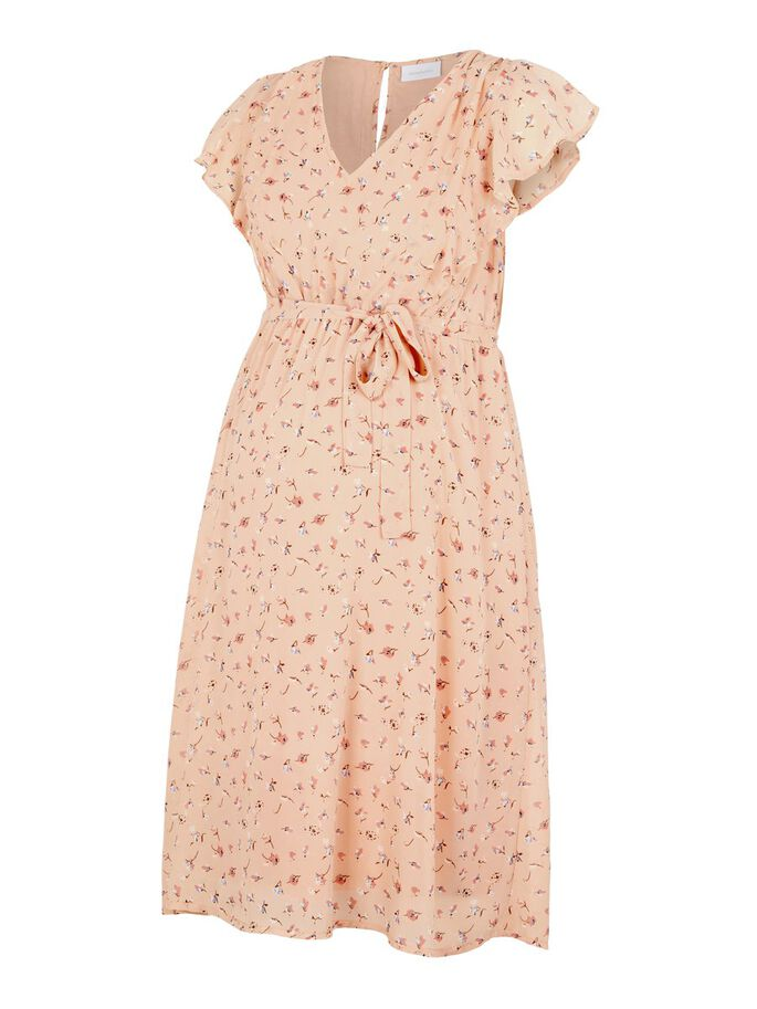 FLORAL 2-IN-1 MATERNITY DRESS, Almost Apricot, large