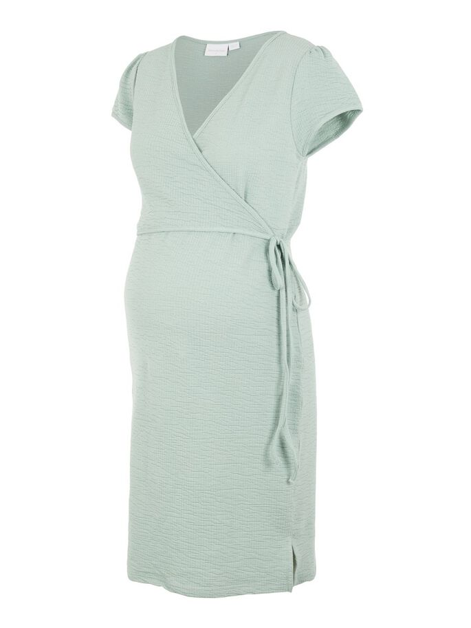 WRAP BODYCON 2-IN-1 MATERNITY DRESS, Green Milieu, large