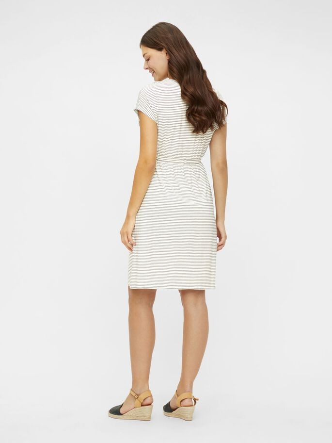 MLALISON MANCHES COURTES ROBE GROSSESSE, Snow White, large
