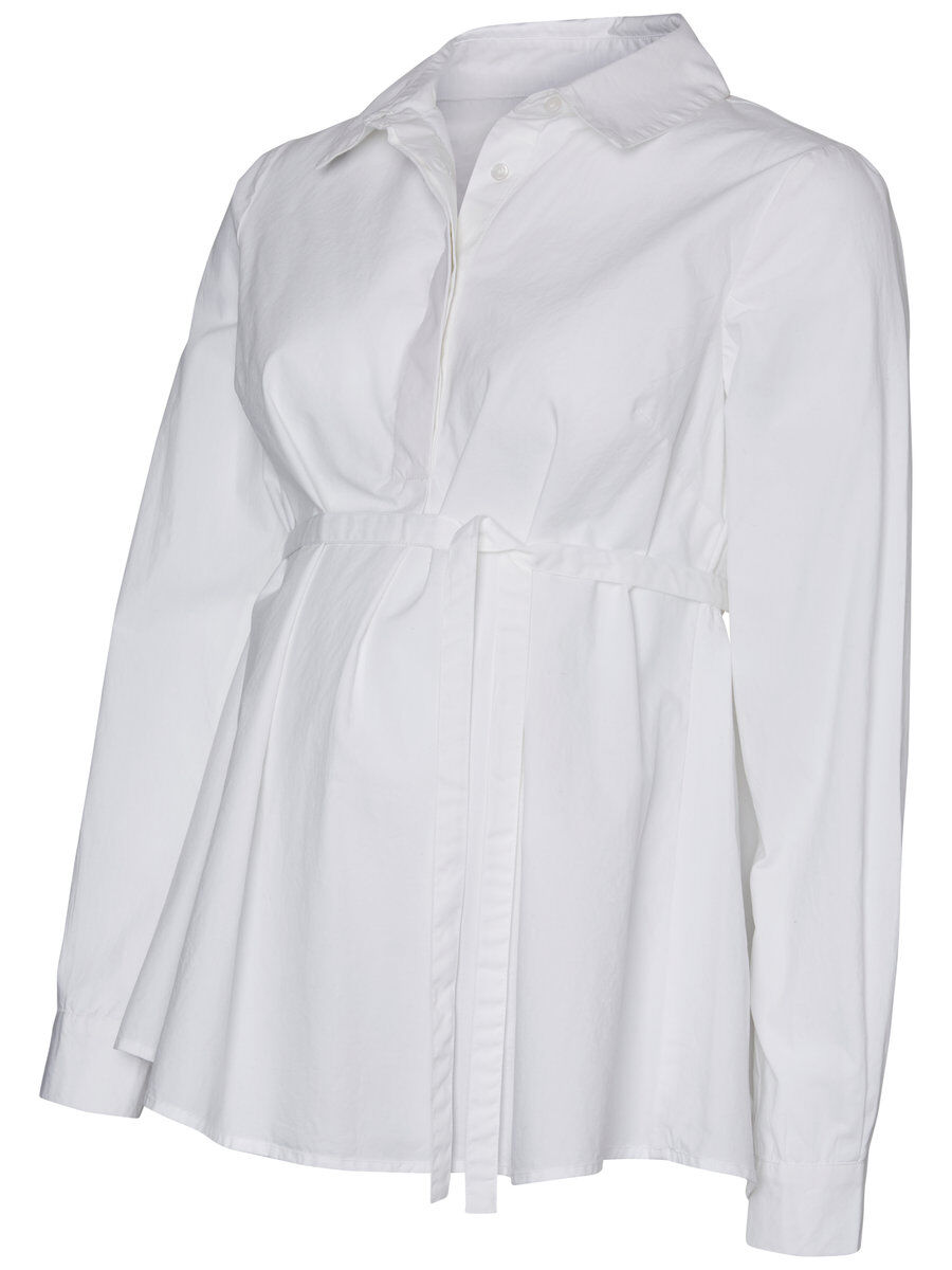 Mama Licious Woven Long Sleeved Blouse Women White Clearance Sneakernews raVRK