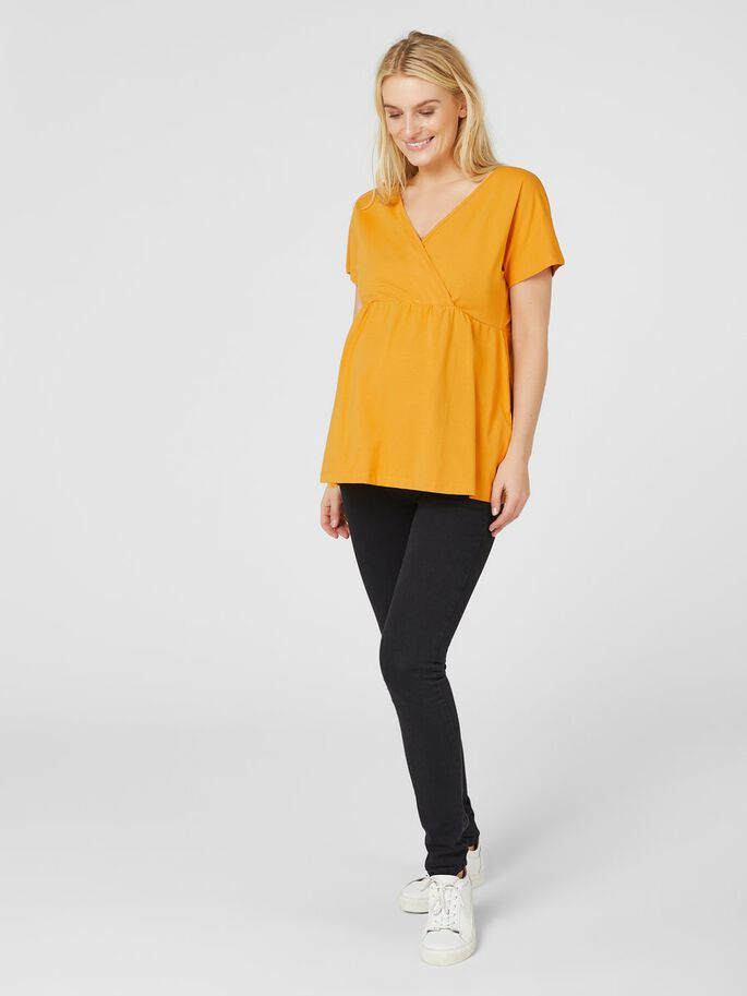 FLOWY JERSEY MATERNITY TOP, Nugget, large