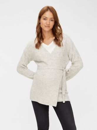 KNITTED WRAP MATERNITY TOP