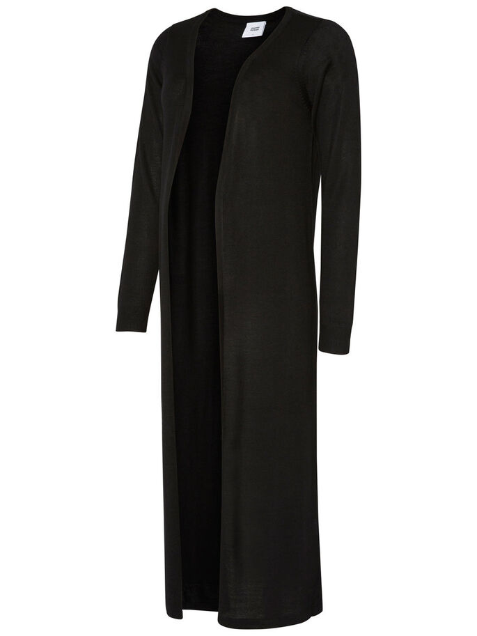 STRIKKET CARDIGAN, Black, large