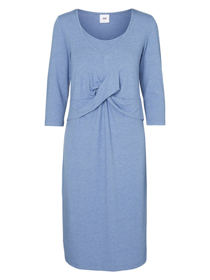 JERSEY NURSING DRESS, Colony Blue, large