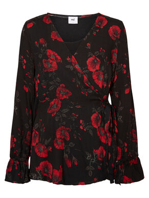 FLOWERED NURSING TOP, LONG SLEEVED