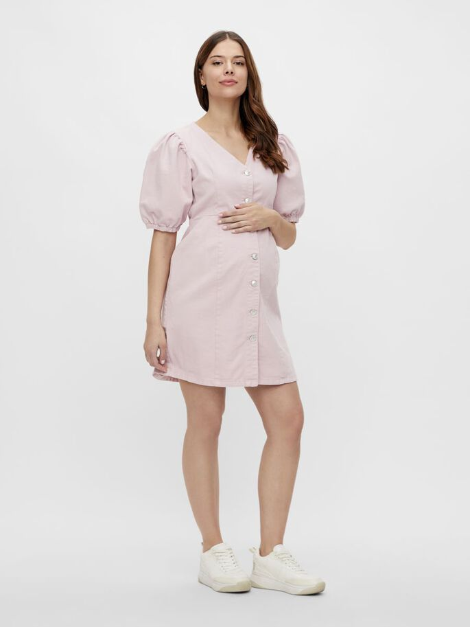 PCMGILI DENIM MATERNITY DRESS, Winsome Orchid, large
