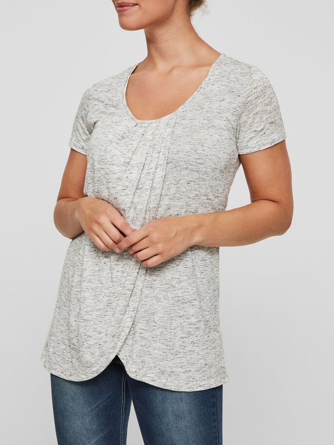 JERSEY NURSING TOP, SHORT SLEEVED, Snow White, large