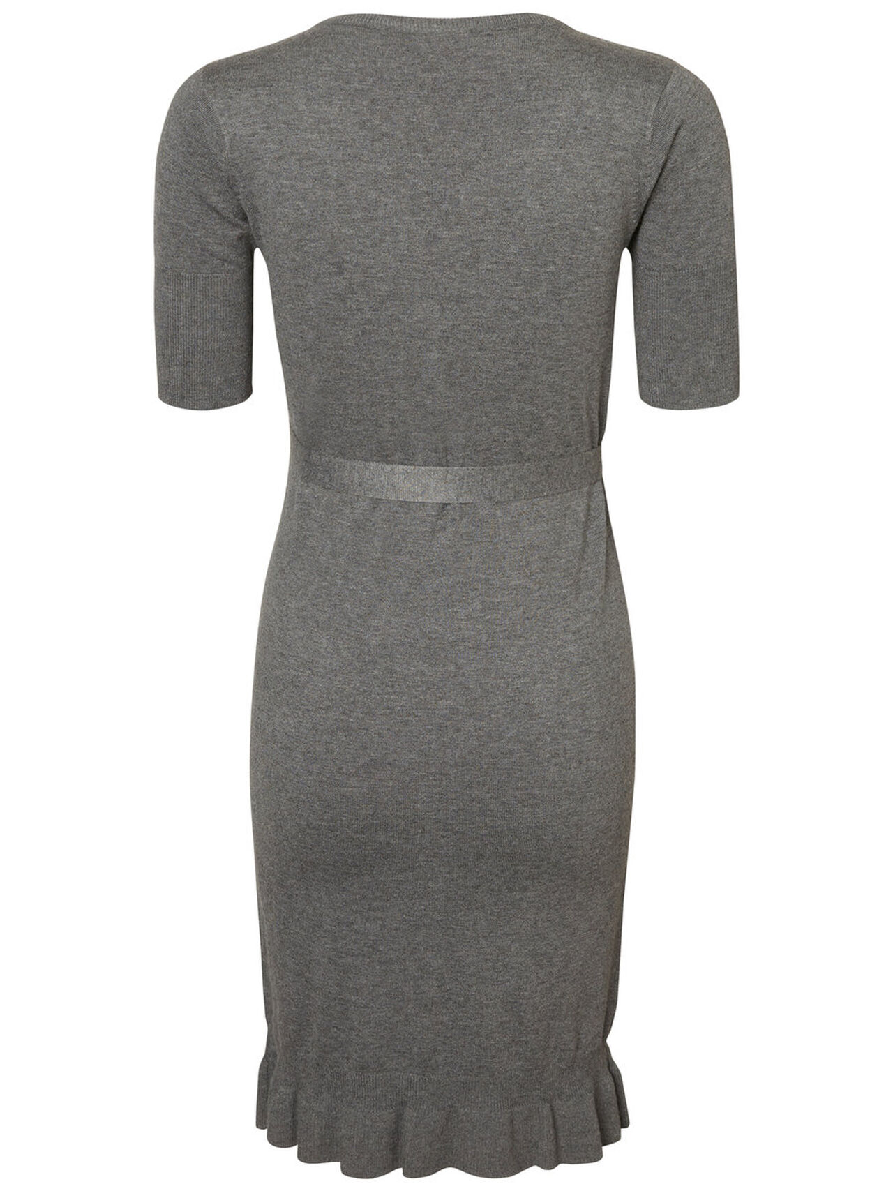 MAMA.LICIOUS 2/4 Sleeved Maternity Dress Women Grey