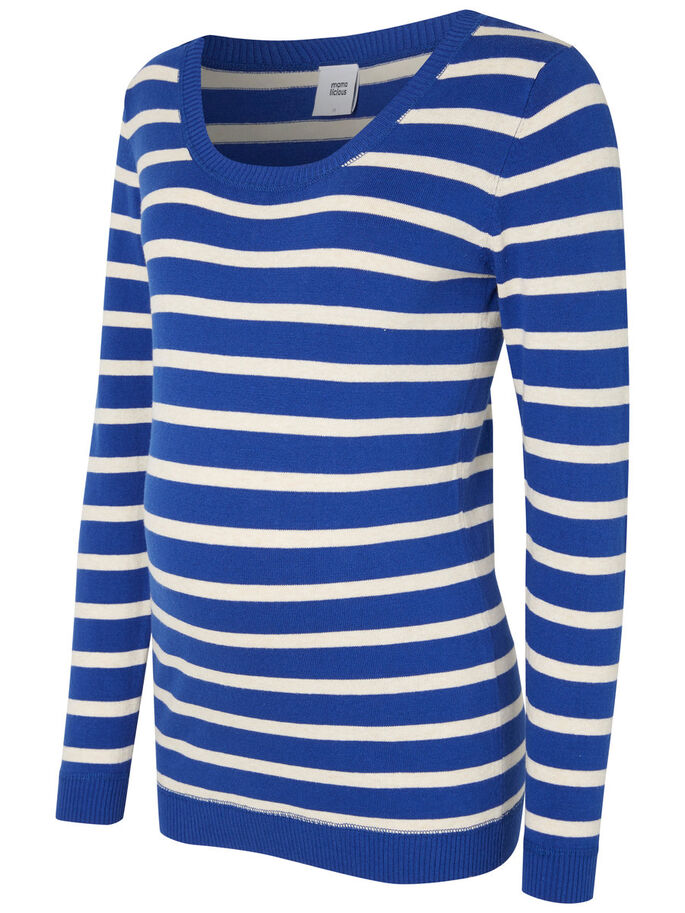 KNITTED MATERNITY TOP, Mazarine Blue, large