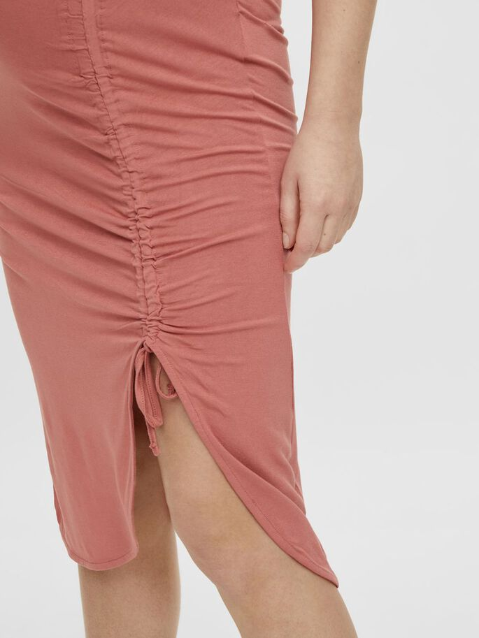 PCMNEORA MATERNITY MIDI SKIRT, Canyon Rose, large