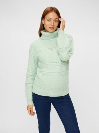 KNITTED HIGH NECK MATERNITY PULLOVER