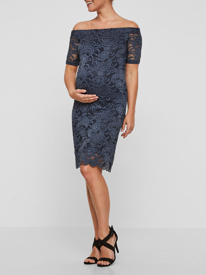 LACE MATERNITY DRESS, Blue Nights, large