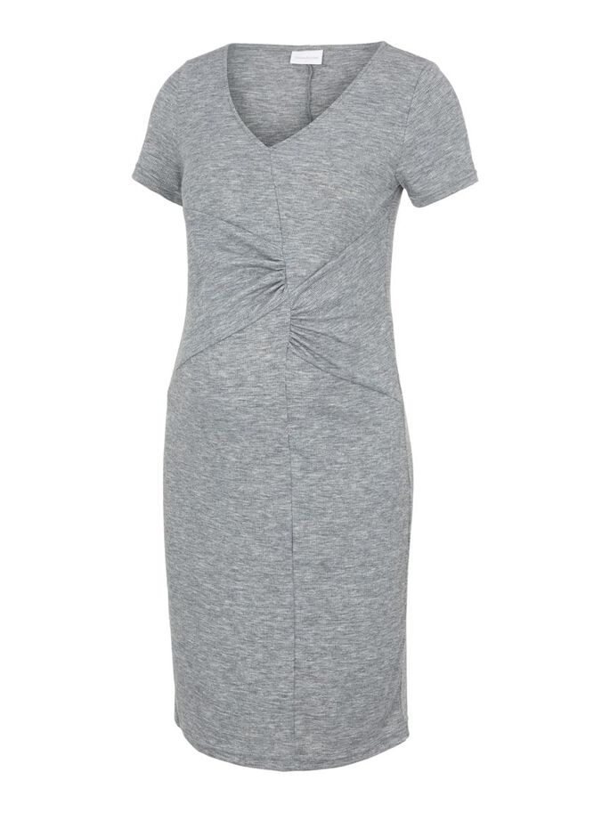 MLSASHA MATERNITY DRESS, Medium Grey Melange, large