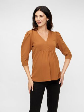 SOLID JERSEY 2-IN-1 MATERNITY TOP