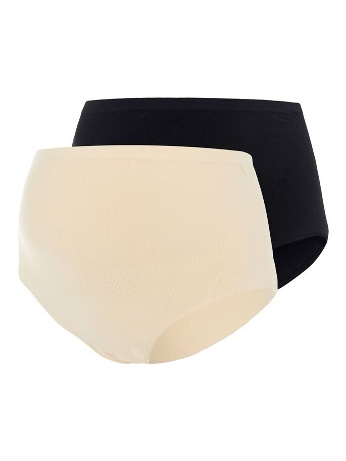 2-PACK PANTIES, Black, large