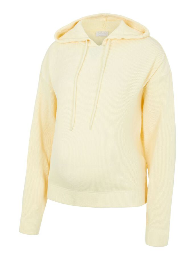 PCMGRYNETTA MATERNITY HOODIE, Almond Oil, large