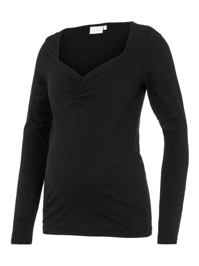 MLELLY MATERNITY TOP, Black, large