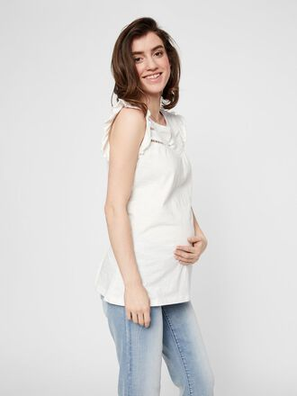 FRILL SLEEVED MATERNITY TOP