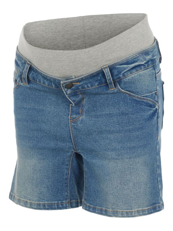 MLFONTANA MATERNITY SHORTS, Light Blue Denim, large