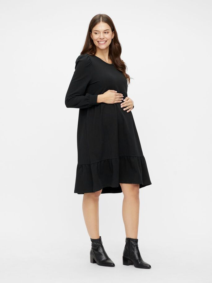 MLCARLY LOOSE FIT MATERNITY DRESS, Black, large