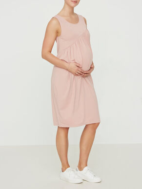 SLEEVELESS JERSEY MATERNITY DRESS