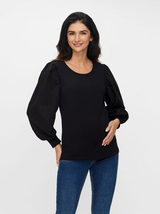 PUFF SLEEVED MATERNITY PULLOVER