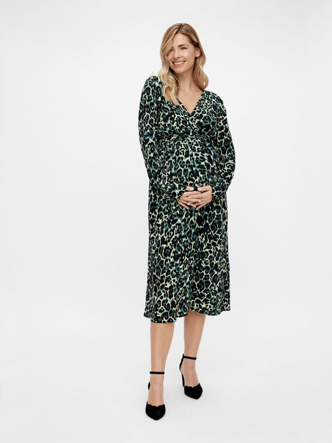 MLNERIS MATERNITY MIDI DRESS, Frosty Green, large