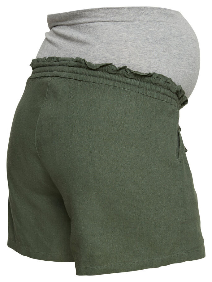 WOVEN MATERNITY SHORTS, Thyme, large