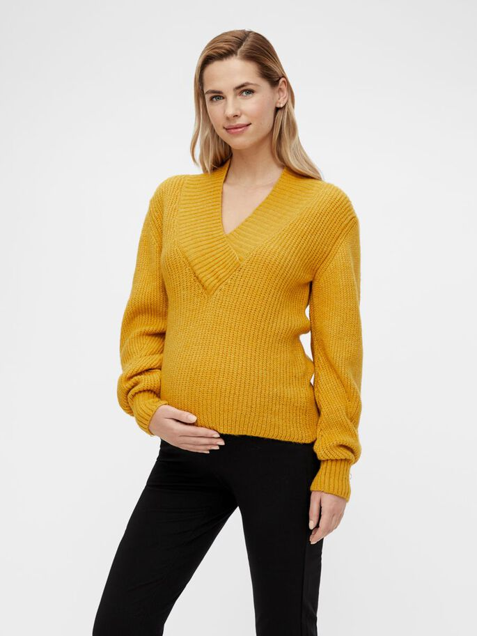 MLROSI MATERNITY JUMPER, Spicy Mustard, large