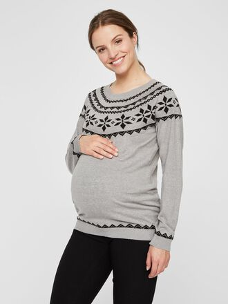 PATTERNED LONG SLEEVED MATERNITY TOP