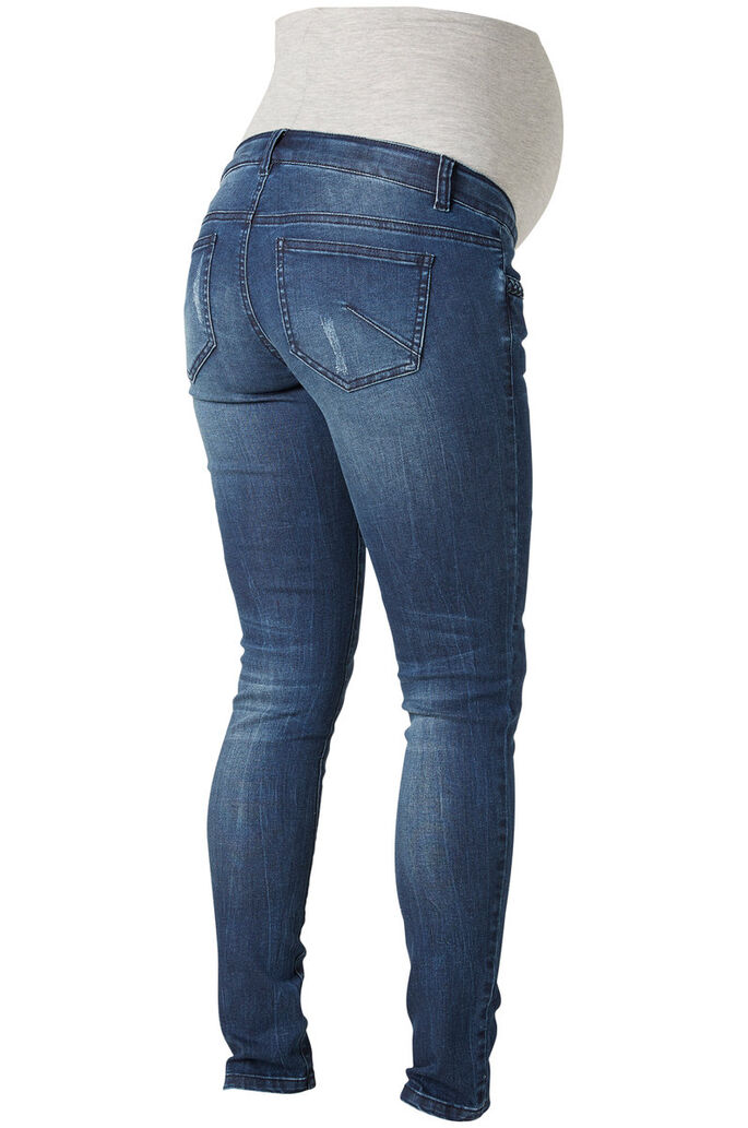 SLIM ZWANGERSCHAPSJEANS, Dark Blue Denim, large