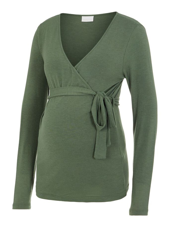 MLLIE WRAP 2-IN-1 MATERNITY TOP, Thyme, large