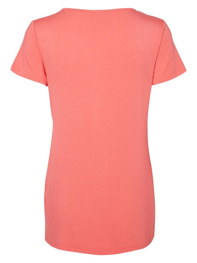 JERSEY NURSING TOP, SHORT SLEEVED, Calypso Coral, large