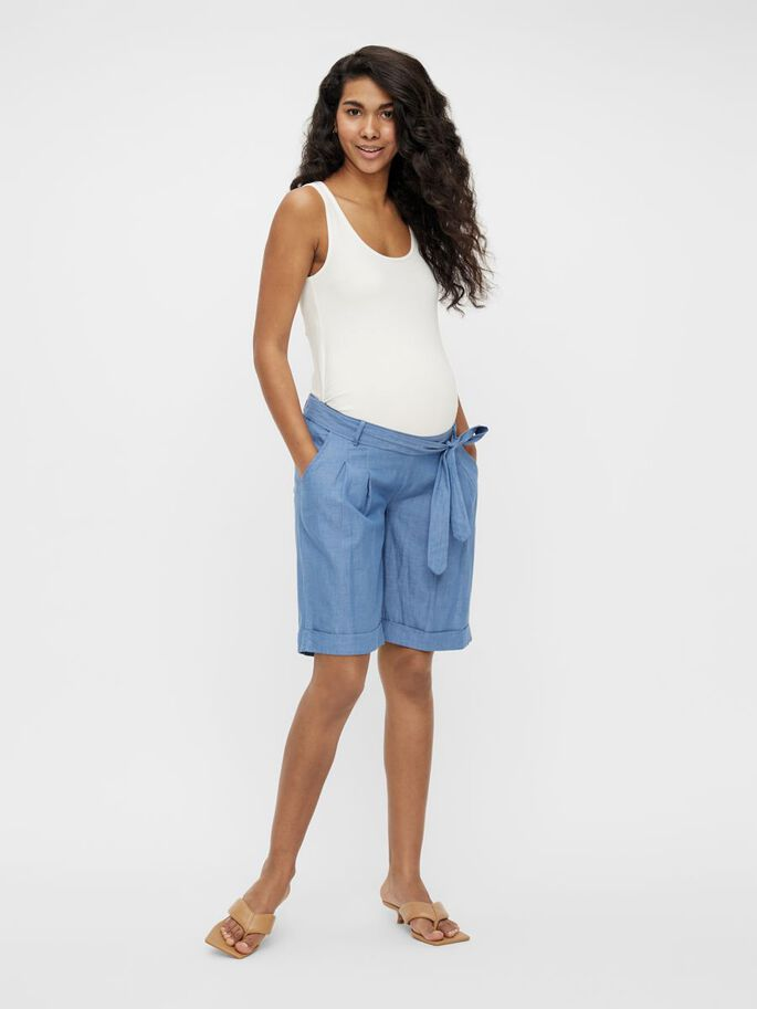 MLMILANA MATERNITY SHORTS, Light Blue, large