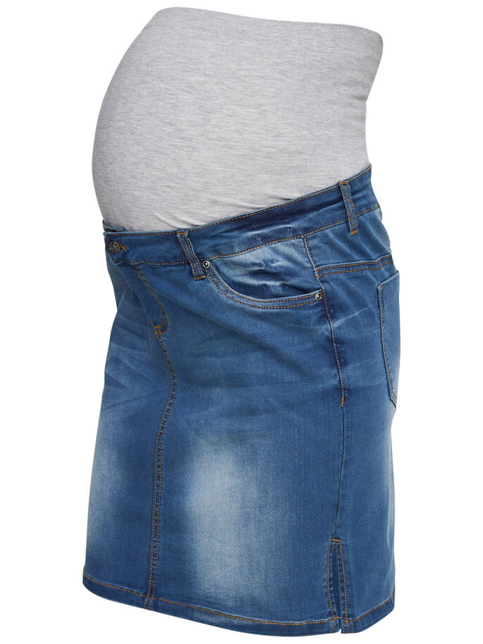 42510b09e4cf5 Denim maternity skirt, short | MAMALICIOUS