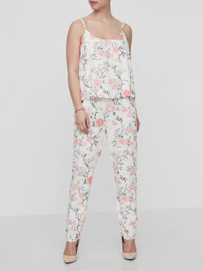 FLOWER PRINTED NURSING JUMPSUIT