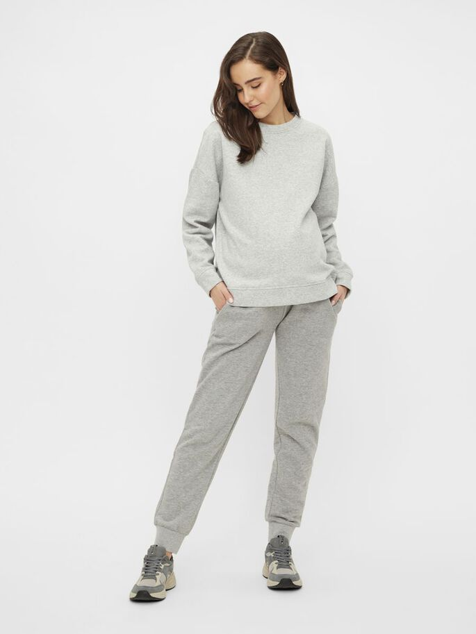 PCMCHILLI MATERNITY SWEATSHIRT, Light Grey Melange, large
