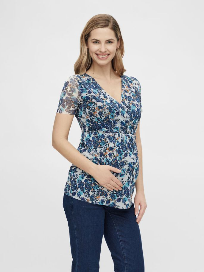 MLFLOWER 2-IN-1 MATERNITY TOP, White, large