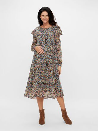 PCMAUGUSTA MATERNITY MIDI DRESS