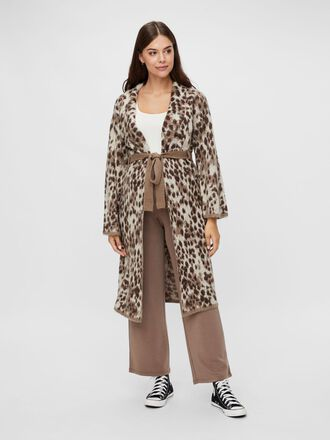 LEOPARD PRINTED MATERNITY COATIGAN