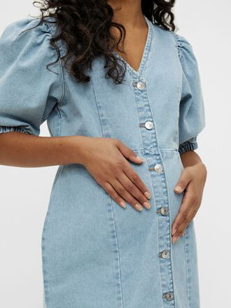 PCMGILI DENIM MATERNITY DRESS