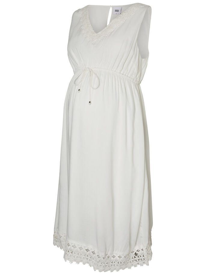 WOVEN MATERNITY DRESS, Snow White, large