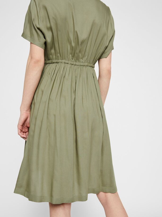 SOLID VISCOSE MATERNITY DRESS, Oil Green, large