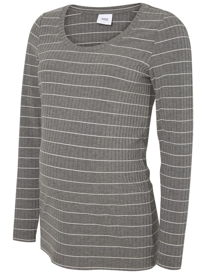 JERSEY TOP DE MATERNITÉ, Medium Grey Melange, large