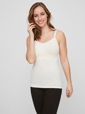 COTTON NURSING TOP, SLEEVELESS