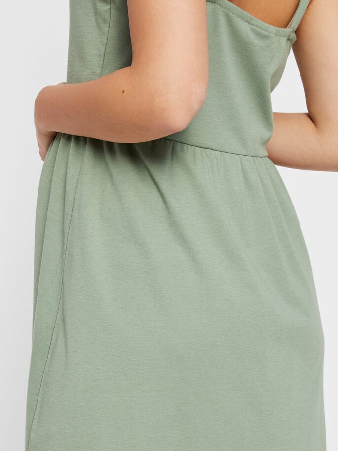 BUTTON FRONT MATERNITY DRESS, Green Bay, large