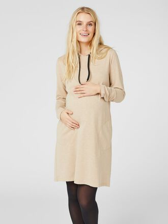 SWEATSHIRT MATERNITY MIDI DRESS