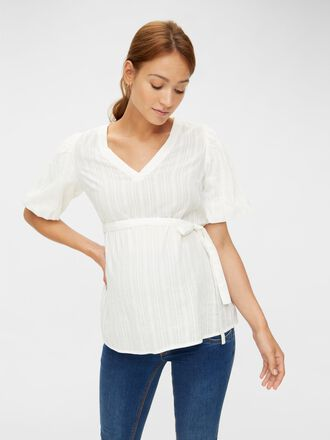 PUFF SLEEVED MATERNITY TOP