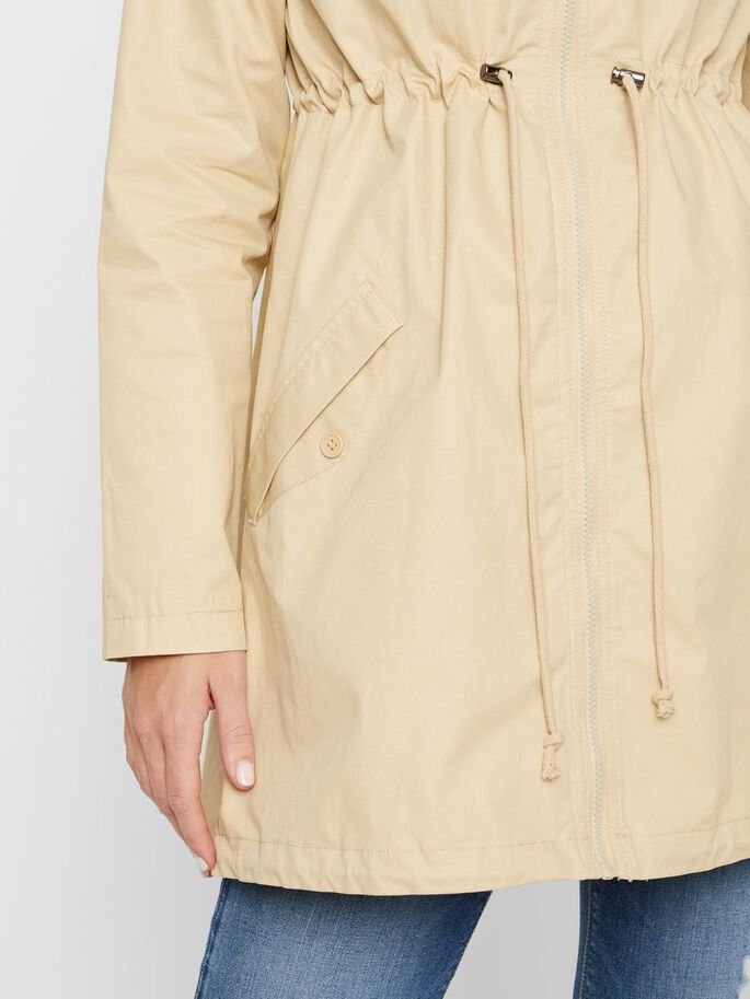 WOVEN 3-IN-1 MATERNITY JACKET, Pebble, large